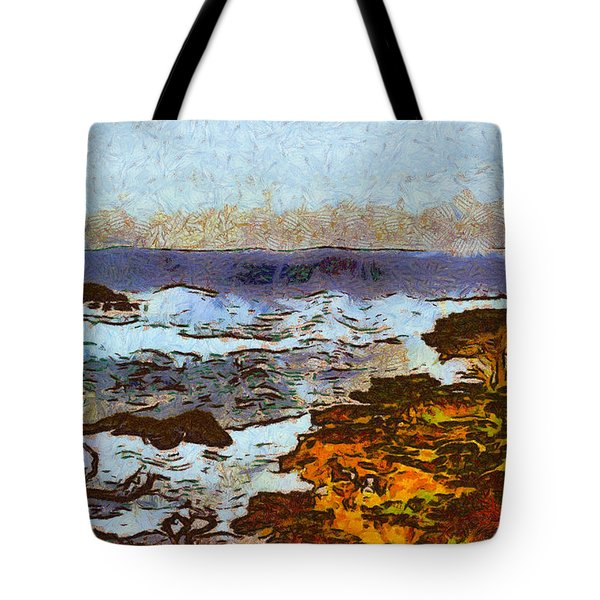 California Seascape Tote Bag by Barbara Snyder