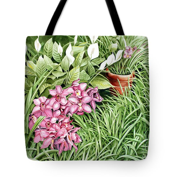 California Sidewalk Tote Bag by Debbie Hart