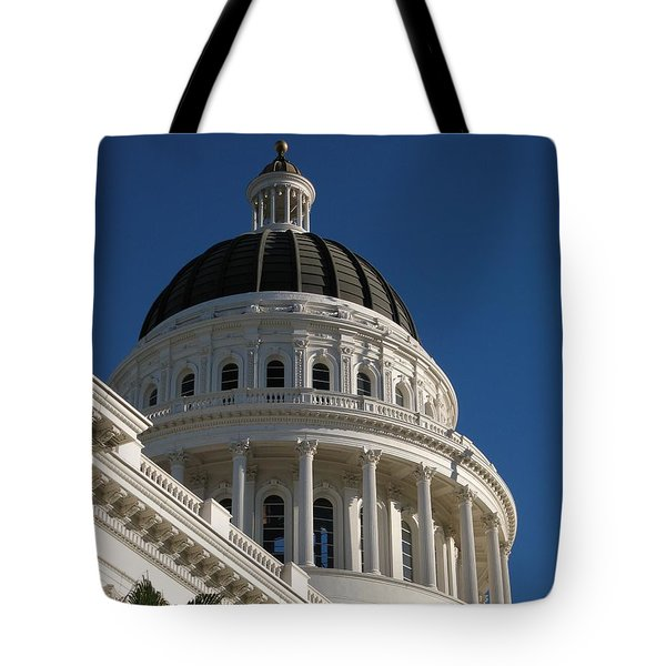 Tote Bag featuring the photograph California State Capitol Dome by James B Toy
