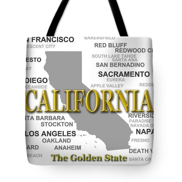 California State Pride Map Silhouette  Tote Bag