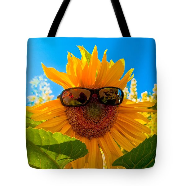 California Sunflower Tote Bag by Bill Gallagher