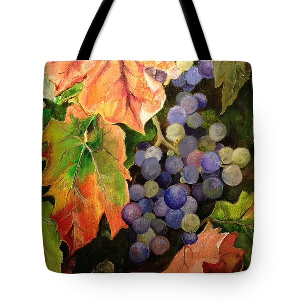 Tote Bag featuring the painting California Vineyards by Alan Lakin