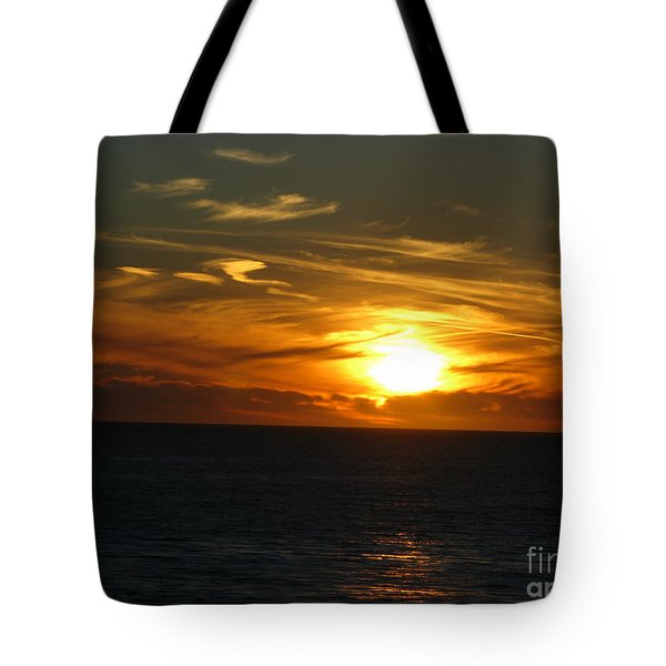 California Winter Sunset Tote Bag by Mini Arora