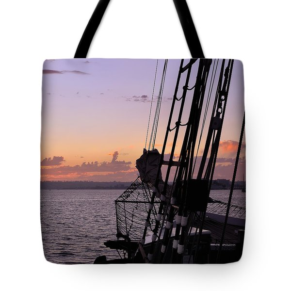 Californian At Sunset Tote Bag