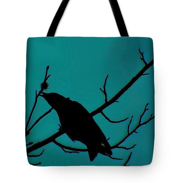 Call Of The Crow On Aqua 2 Tote Bag