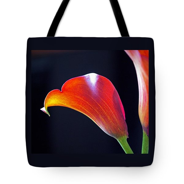 Calla Colors And Curves Tote Bag by Rona Black