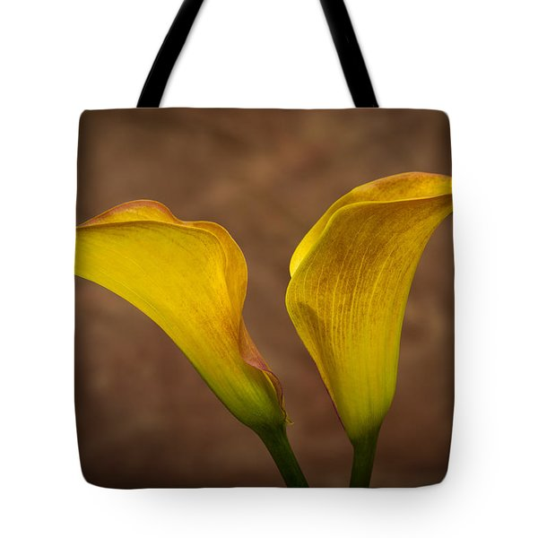 Tote Bag featuring the photograph Calla Lilies by Sebastian Musial
