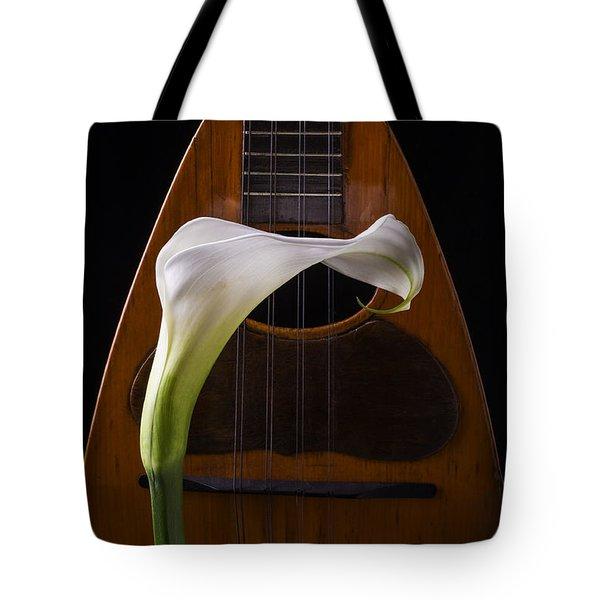 Calla Lily And Mandolin Tote Bag