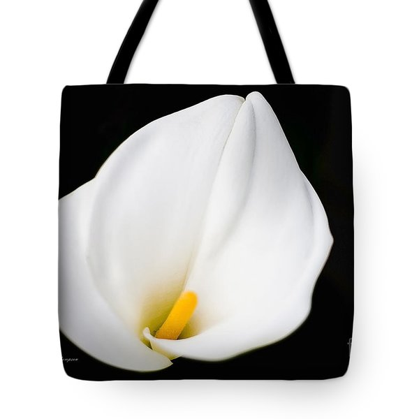 Calla Lily Flower Face Tote Bag