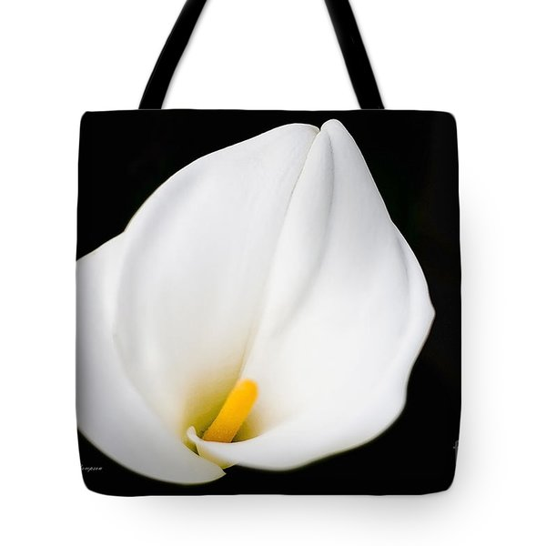 Tote Bag featuring the photograph Calla Lily Flower Face by Richard J Thompson