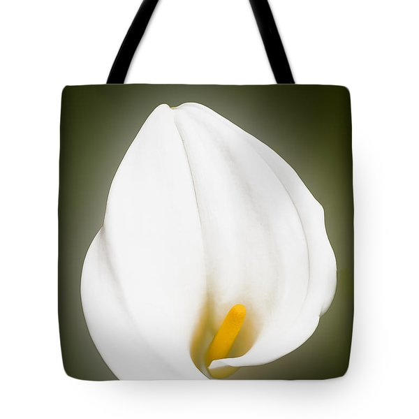Calla Lily Flower Glow Tote Bag