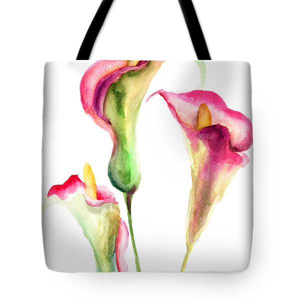 Calla Lily Flowers Tote Bag