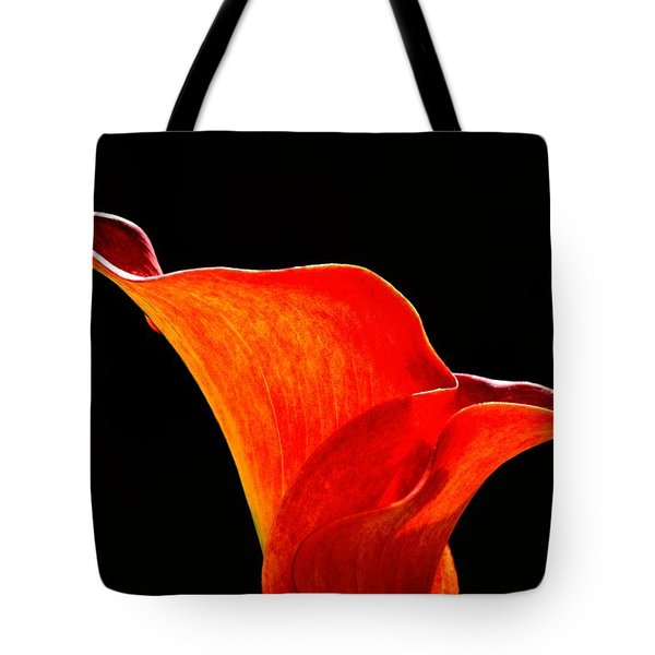 Calla Lily High Contrast Tote Bag by Scott Lyons
