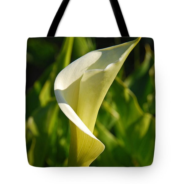 Tote Bag featuring the photograph Calla Lily by Mary Carol Story