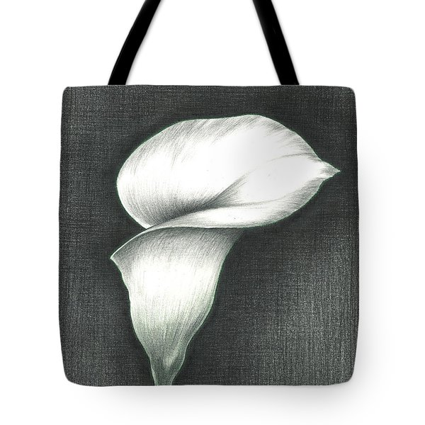 Calla Lily Tote Bag by Troy Levesque