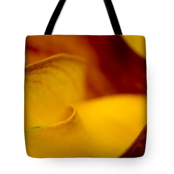 Tote Bag featuring the photograph Calla Lily Waves by Sebastian Musial