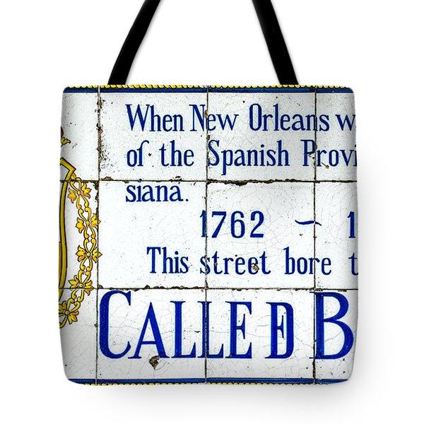Calle D Borbon Tote Bag