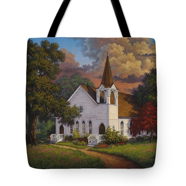 Tote Bag featuring the painting Called To Praise by Kyle Wood