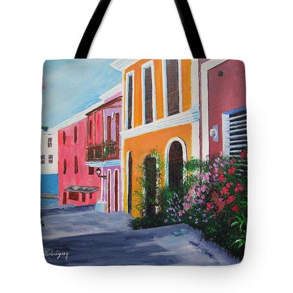 Callejon En El Viejo San Juan Tote Bag