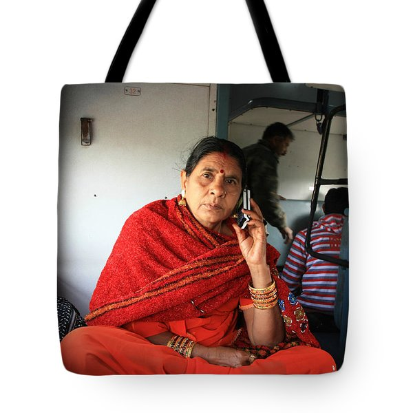 Calling From The Train Tote Bag by Amanda Stadther