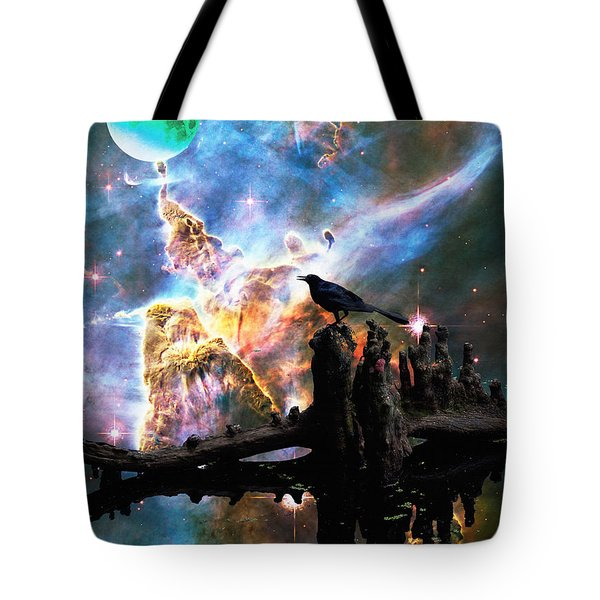 Calling The Night - Crow Art By Sharon Cummings Tote Bag