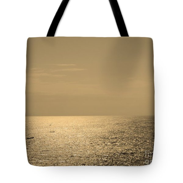 Calm Arabian Sea Tote Bag by Mini Arora