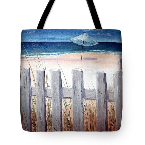 Calm Day At The Seashore Tote Bag