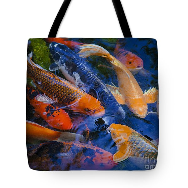Tote Bag featuring the photograph Calm Koi Fish by Jerry Cowart