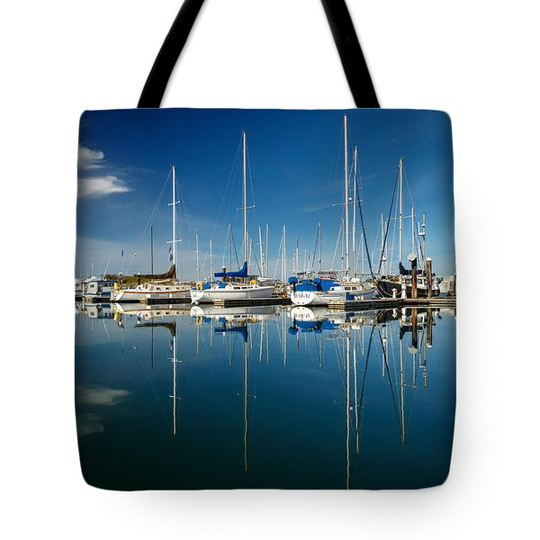 Calm Masts Tote Bag