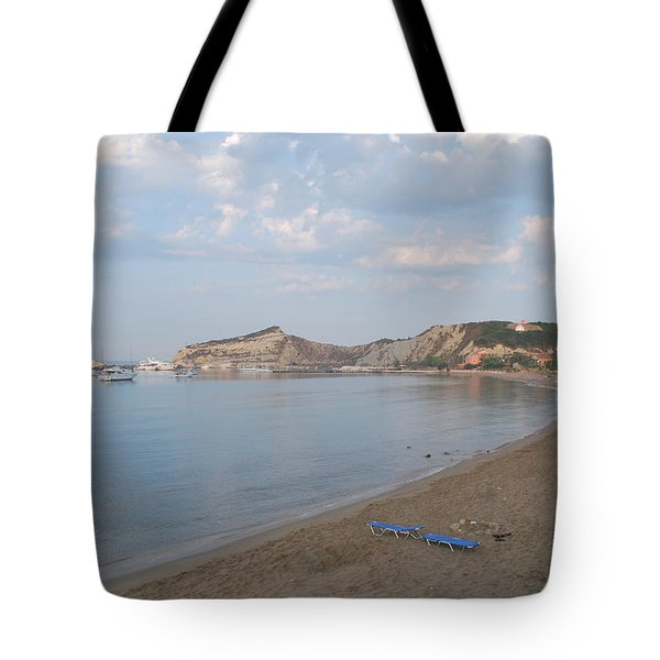 Tote Bag featuring the photograph Calm Sea by George Katechis