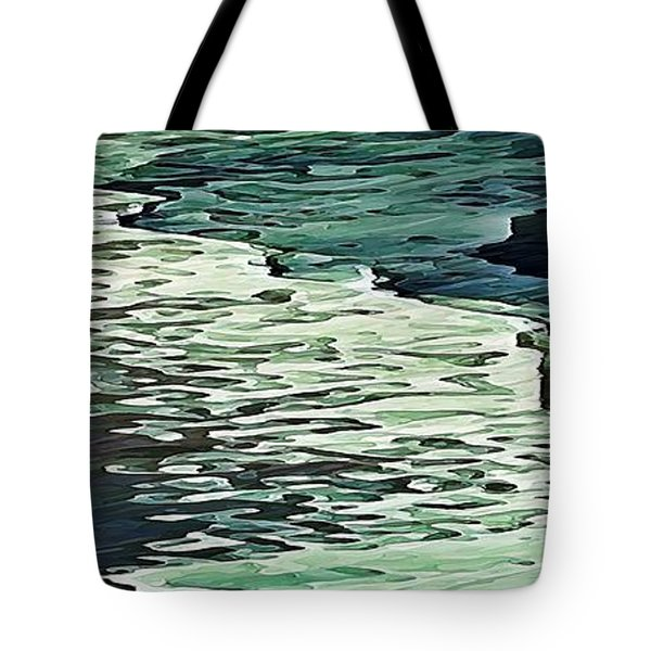Tote Bag featuring the digital art Calm Shores by David Manlove
