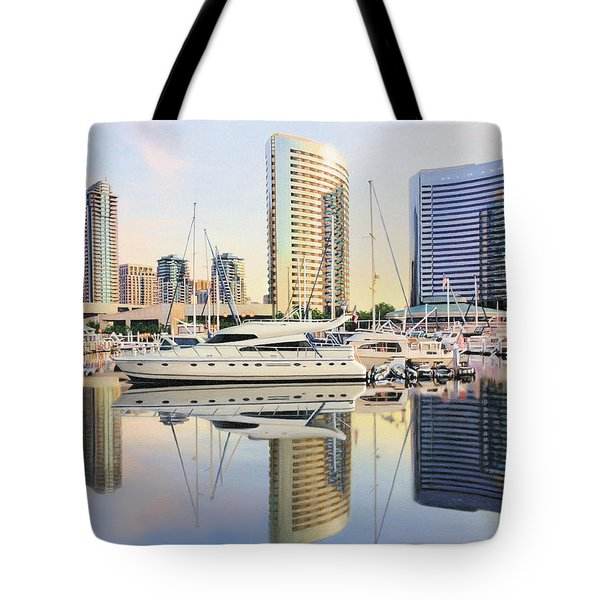 Tote Bag featuring the painting Calm Summer Morning by Jane Girardot