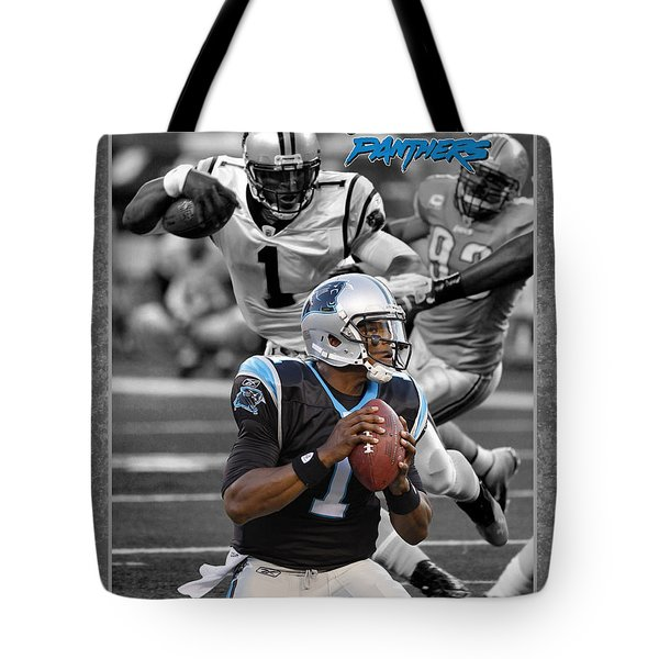 Cam Newton Panthers Tote Bag