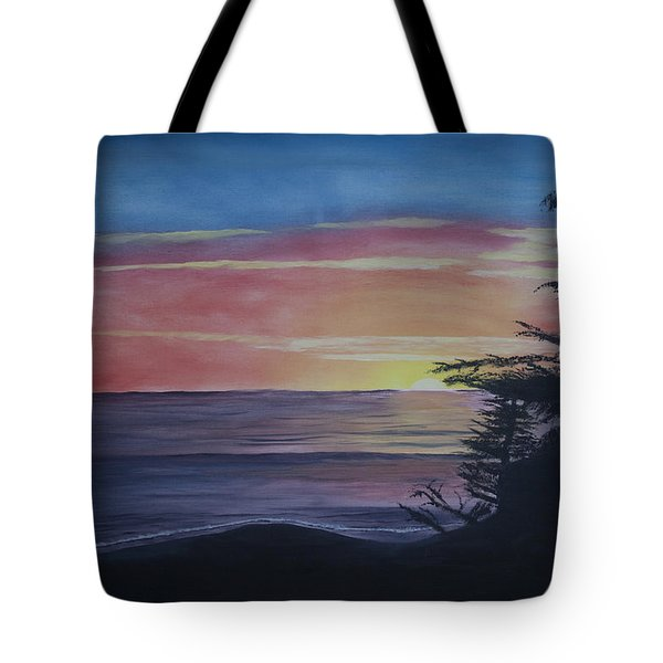 Cambria Setting Sun Tote Bag by Ian Donley