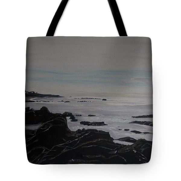 Tote Bag featuring the painting Cambria Tidal Pools by Ian Donley