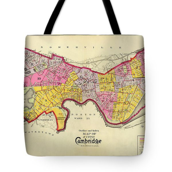 Cambridge Massachusetts 1903 Tote Bag by Andrew Fare