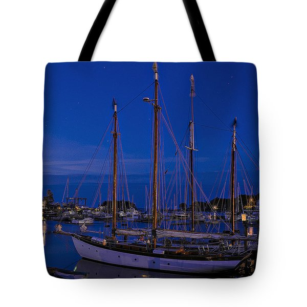Camden Harbor Maine At 4am Tote Bag