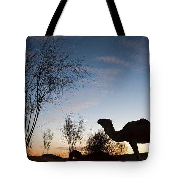 Camel Sunset Tote Bag