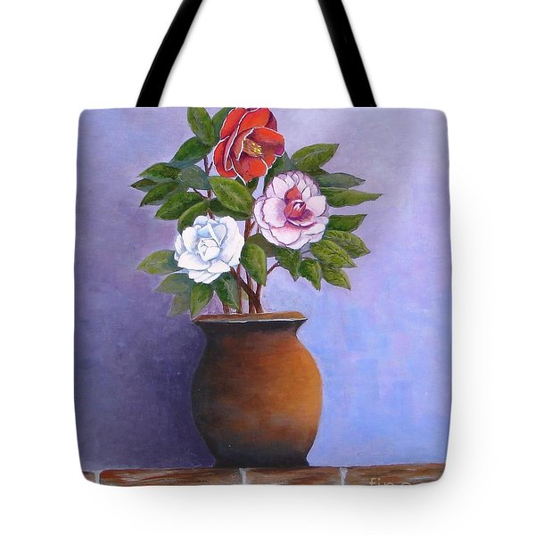 Camellia Bouquet Tote Bag