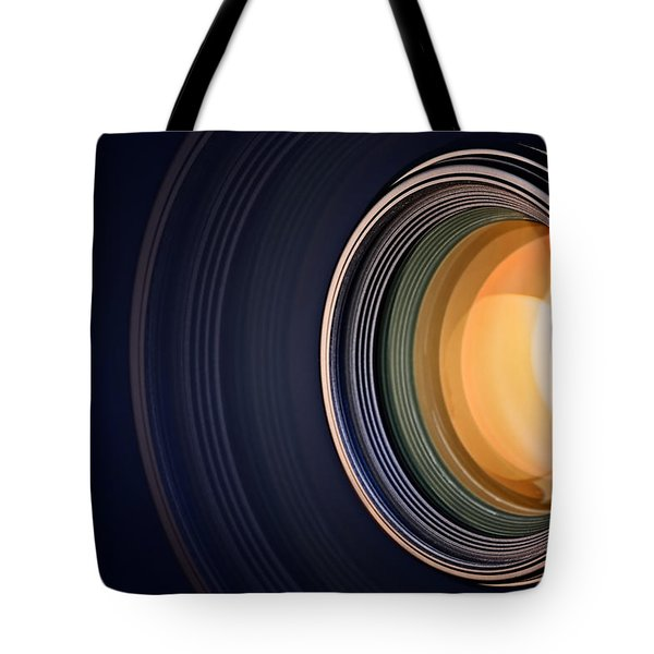 Camera Lens Background Tote Bag