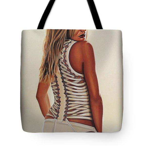 Cameron Diaz Painting Tote Bag