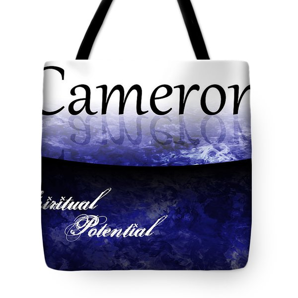 Cameron - Spiritual Potential Tote Bag by Christopher Gaston