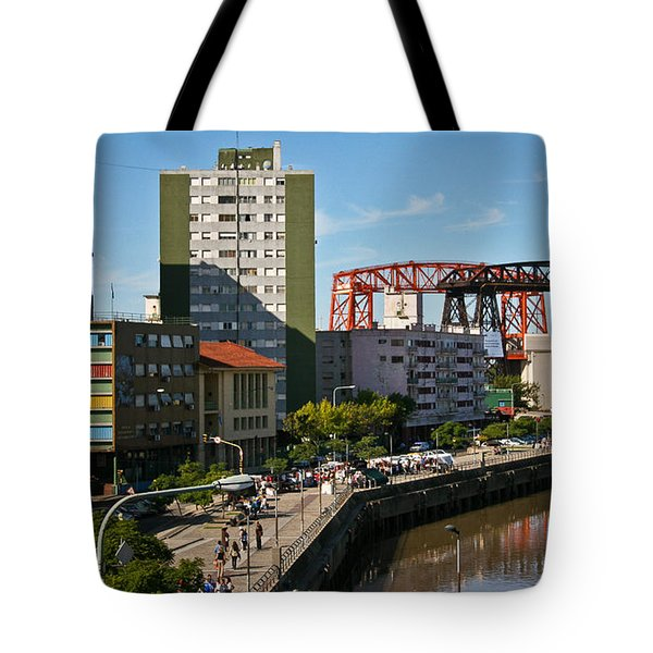 Tote Bag featuring the photograph Caminito by Silvia Bruno