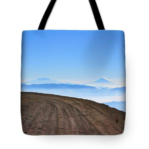 Camino En Volcan Nevado De Toluca Tote Bag