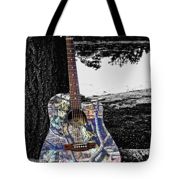 Camo Guitar Tote Bag