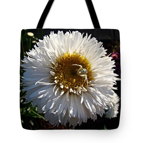 Tote Bag featuring the photograph Camo Spider by Nick Kloepping