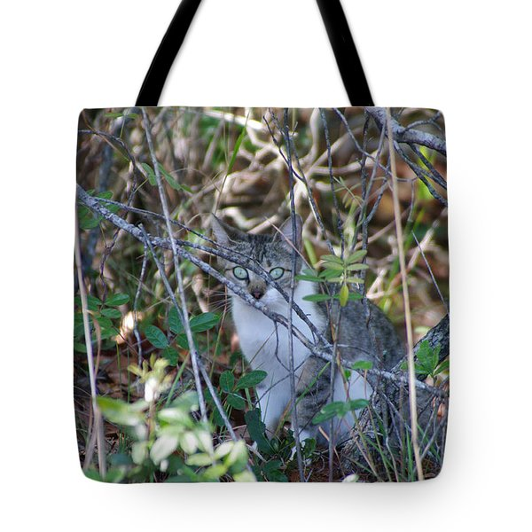 Camouflage Cat Tote Bag