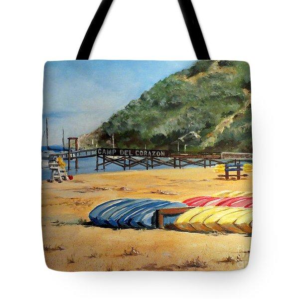 Camp Del Corazon  Tote Bag by Lee Piper