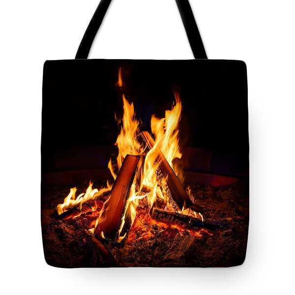 Camp Fire Tote Bag