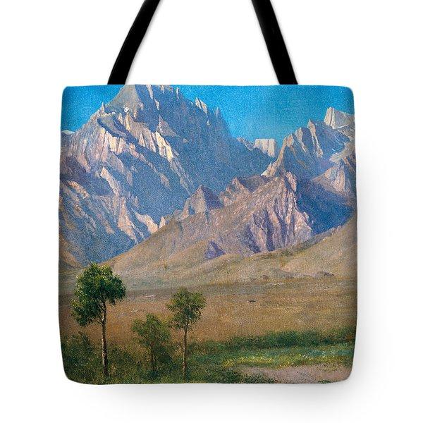 Camp Independence Colorado Tote Bag by Albert Bierstadt